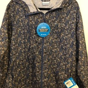 Blue and brown Columbia jacket